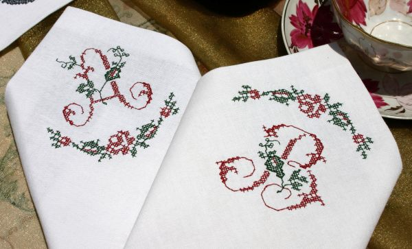 Personalizing items with Vintage Grace embroidery font