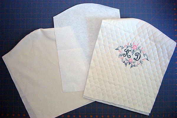Monogrammed chair covers with Heirloom Font