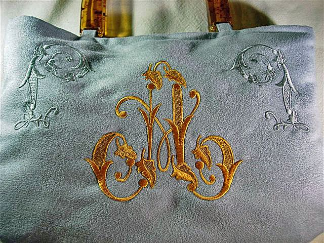 Fluffy Tote decorated with Nostalgic Flavour Initials: