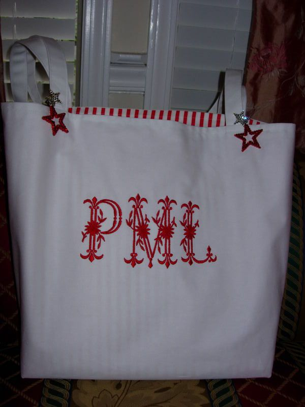 Red Marine Tote Bag with Royal Heritage Initials