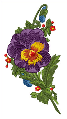 Romantic Pansies Bouquet 1