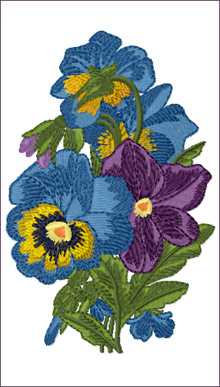 Romantic Pansies Bouquet 2