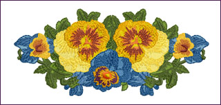 Romantic Pansies Floral Border