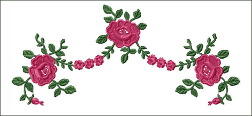 Roses Swag 1 Embroidery Design