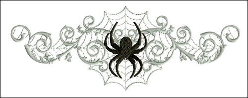 Spider on the Web 2 embroidery design