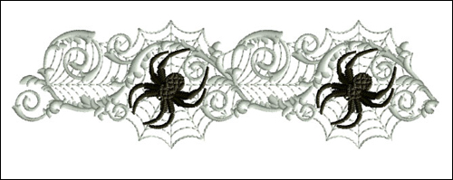 Spiders on the Web  embroidery design