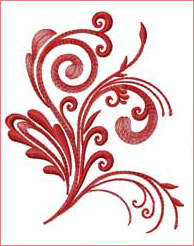 Flourishing Stem 6 embroidery design