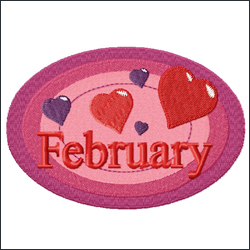 February embroidery designs