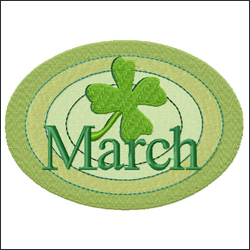 March embroidery designs