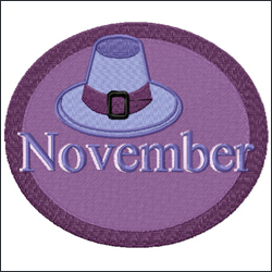 November embroidery designs