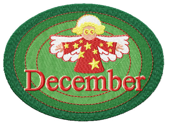 December from Twelve Month Gala Patches