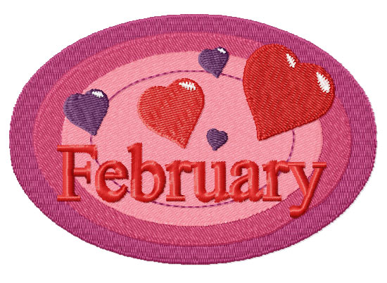 February from Twelve Month Gala Patches