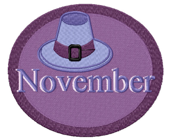 November from Twelve Month Gala Patches