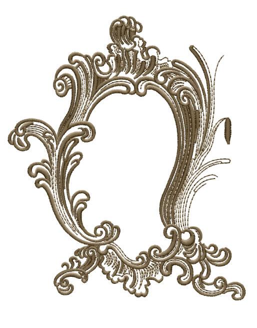 ABC Designs Fancy Frames  Machine Embroidery Designs SET 5x7 hoop