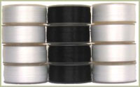 L-size 72 Black & 72 White Plastic Sided Bobbins Kit