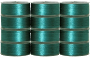 36 L Pre-Wound Plastic Sided Bobbins - Emerald