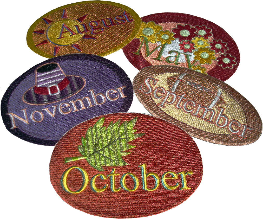 Twelve Month Gala Patches