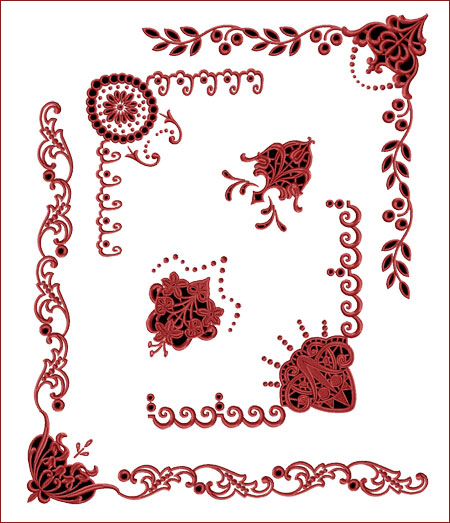 Gothic Designs ancient gothic cutwork