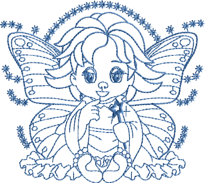 Playing Fairy Embroidery Designs