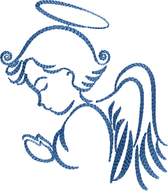 Praying Angel  Embroidery Designs