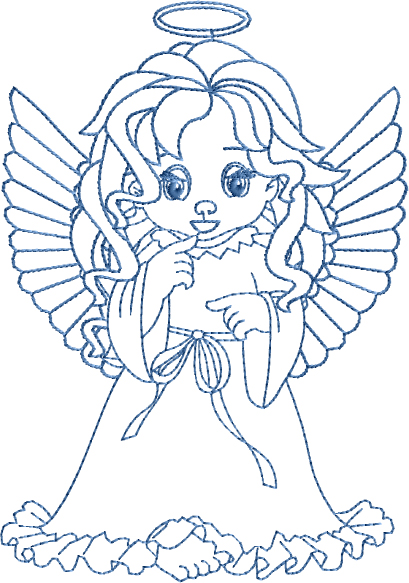 Thinking Fairy Embroidery Designs