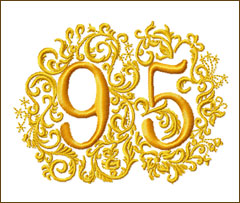 95th Anniversary Embroidery Design