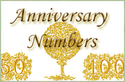 Anniversary Numbers Embroidery Designs