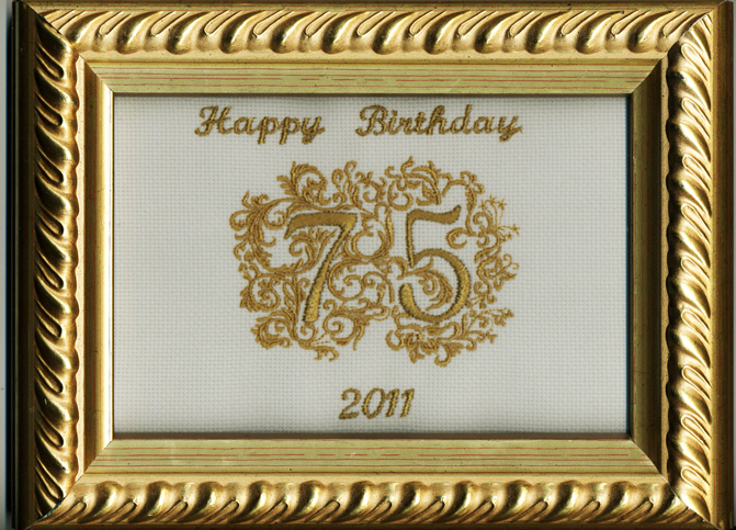 Anniversary Numbers Machine Embroidery Designs