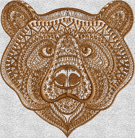 Bear Face Embroidery Designs