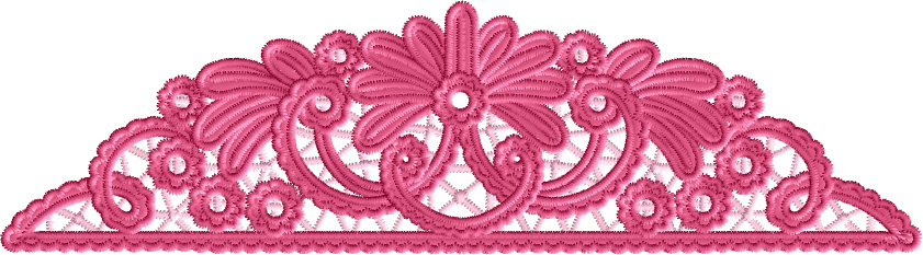 Border-Edge Lace Embroidery Designs