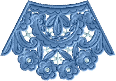 Neckline lace Embroidery Designs