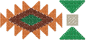 Native American Geo Border 3 cross stitch pattern