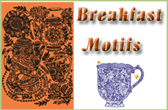 Breakfast Motifs Embroidery Designs