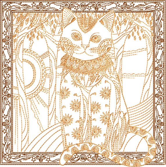 Cat in the Window Embroidery Designs