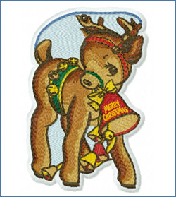 Christmas Fawn_embroidery design