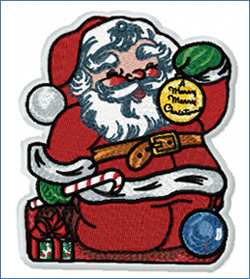 Santa_embroidery design
