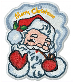 Smoking Santa_embroidery design