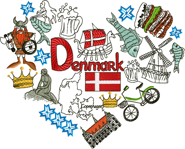I Love Denmark Designs