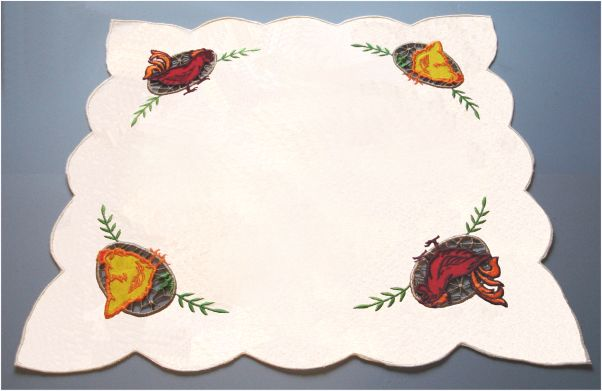 Irises and bunchberries u horse and buggy country wool applique