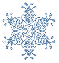 Snowflake 3 embroidery design