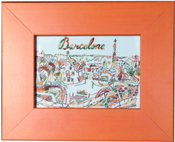 "Colori Orange Frame ""Barcelona"""