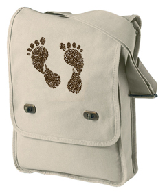 Footprints Pigment-Dyed Canvas Field Bag