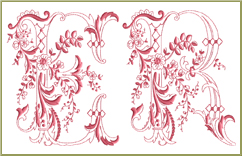 Enlaced Romance Initials