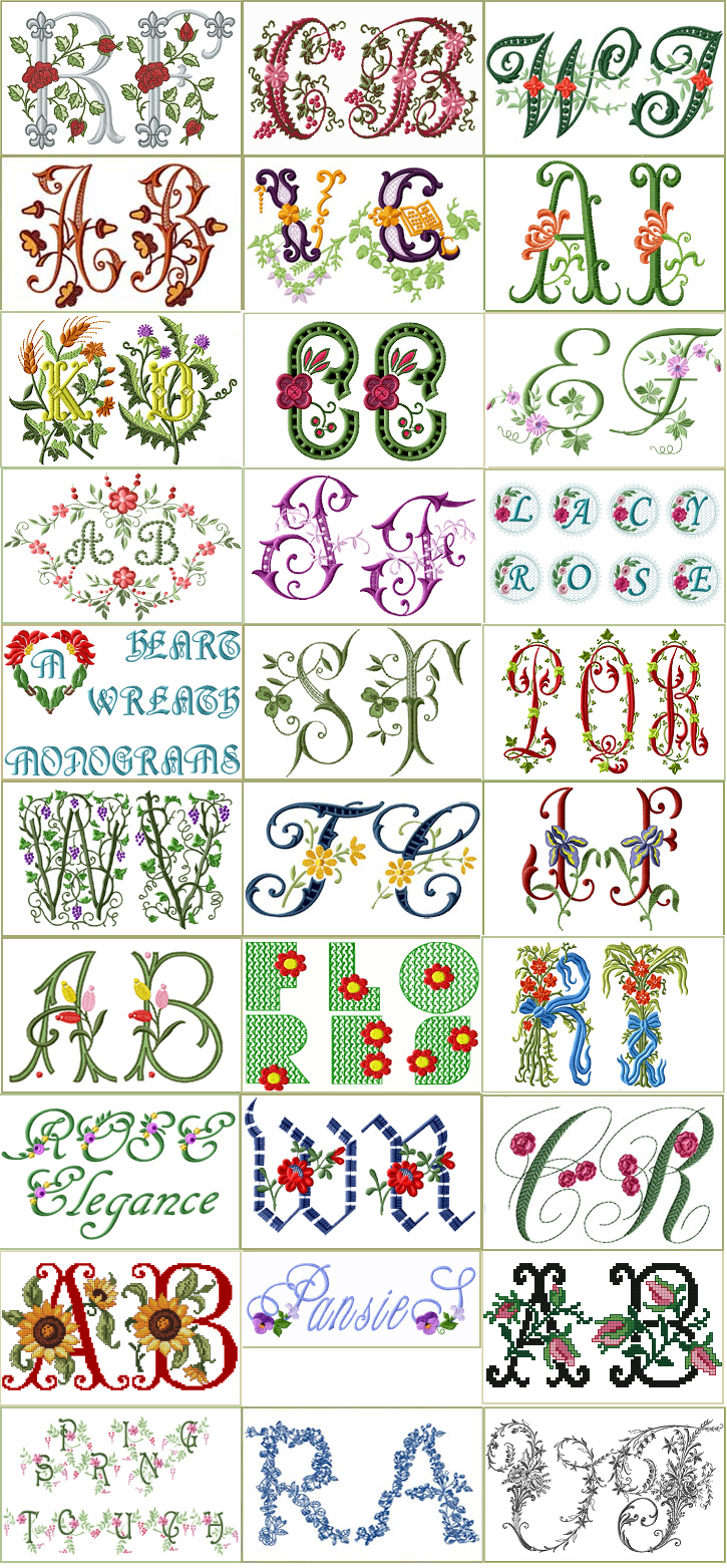 Collection of 30 Floral Fonts and Alphabets with huge quantity discount.