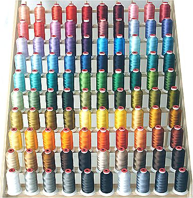 100-Cone Polyester Embroidery Threads Kit ThreaDelighT