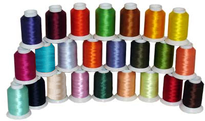 24-Cone Bobbin Polyester Embroidery Threads Kit ThreaDelighT