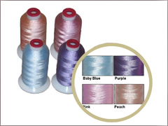 70 bobbins & 10 Thread Cones in 5 Pastel  Matching Colors