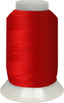 ThreaDelight Polyester Embroidery Thread Christmas Red 60 WT