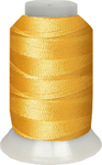 ThreaDelight Polyester Embroidery Thread Canary Dark  60 WT