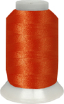 ThreaDelight Polyester Embroidery Thread Bright Orange Red  60 WT